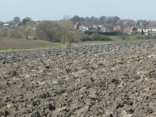 Recently ploughed field off Rook's Nest Road
