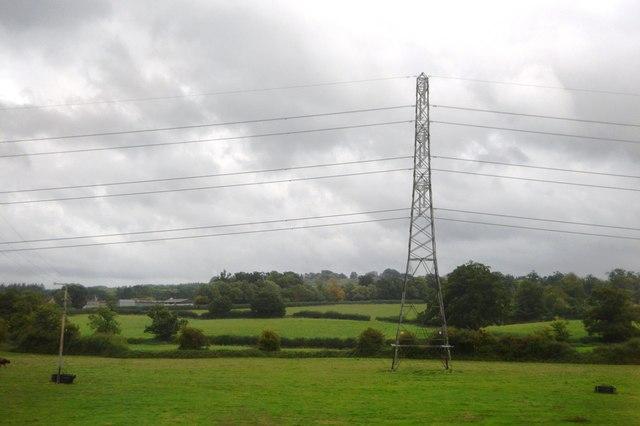 Pylon in field