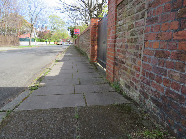 Barton Road, Hoylake, and a bench mark