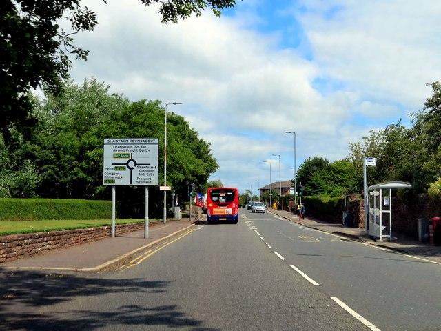 Monkton Road in Prestwick
