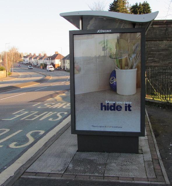 Show you care - hide it, Malpas Road, Newport
