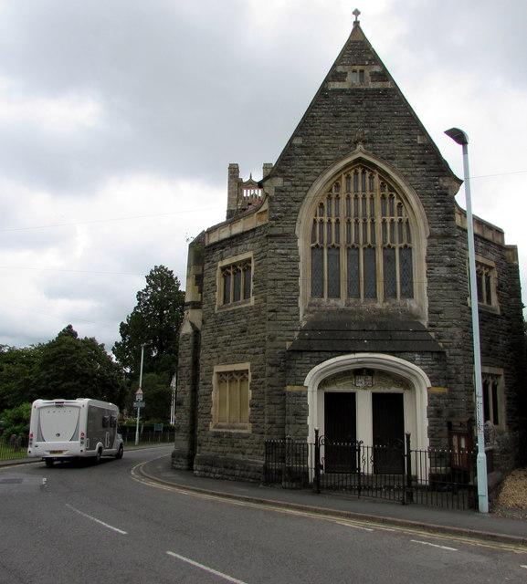 Entrance to Builth Ecumenical Church, Builth Wells