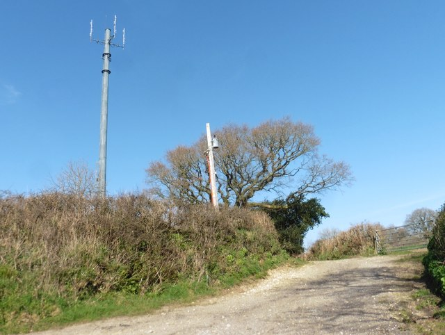 Telecoms mast on Ball Hill