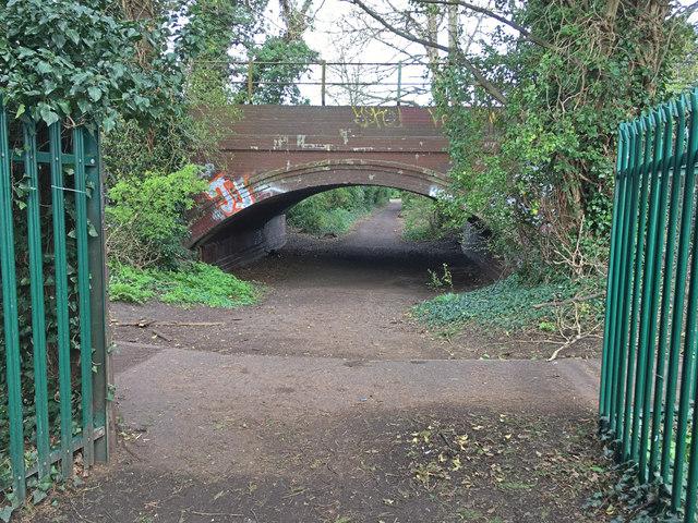 Bridleway bridge under railway
