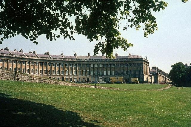 Royal Crescent, Bath, 1966