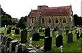 SO0351 : St Mary's Church and churchyard, Builth Wells by Jaggery