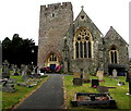 SO0351 : East side of St Mary's Church, Builth Wells by Jaggery