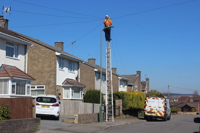Man up pole, Waun Goch Road