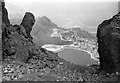 SH6644 : Constructing the dam at Llyn Stwlan, 1959 by Alan Murray-Rust