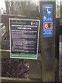 SJ9594 : Coronavirus information (Trans Pennine Trail) by Gerald England