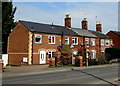 SO8006 : Row of brick houses, Gloucester Road, Stonehouse by Jaggery
