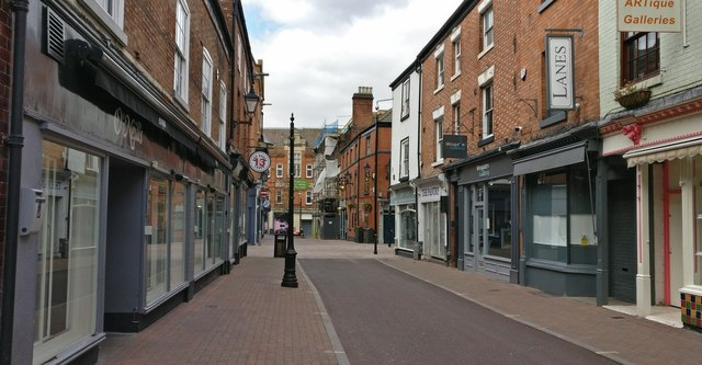 Loseby Lane in Leicester city centre