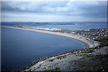 SY6873 : Chesil Cove from West Cliff, Portland by Colin Park