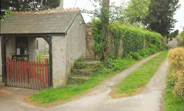 Lych gate and mounting block, Bere Ferrers