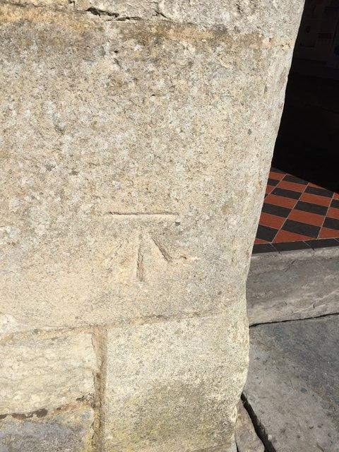 OS Cut Mark: Burnham on Sea, St Andrew's Church