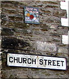 SX2553 : Looe in Bloom sign, Church Street, West Looe by Jaggery