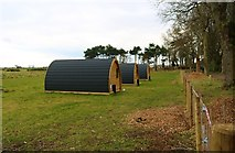 NO3901 : Glamping pods, Silverburn Park by Bill Kasman