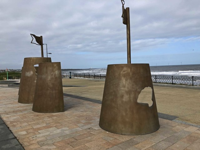 Sandcastle seats 'art' Whitley Bay