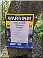 TF0820 : Warning notice by Bob Harvey