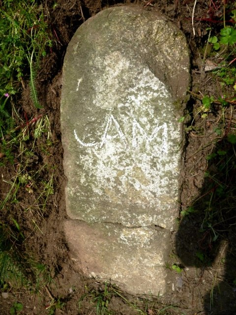 Old milestone by the A39, west of Trewen Farm