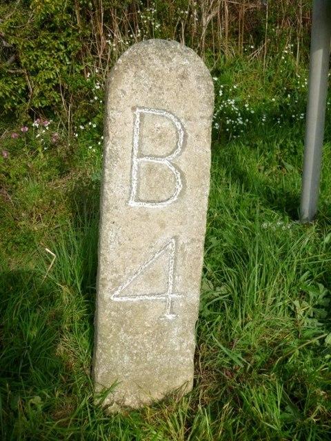Old Milestone by the B3266, west of Hellandbridge