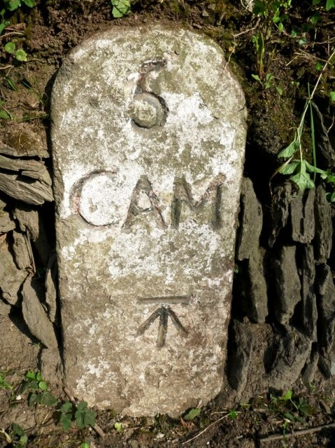 Old Milestone by the A39, north of Penvose Farm