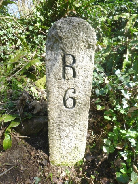 Old Milestone south of Tresquare