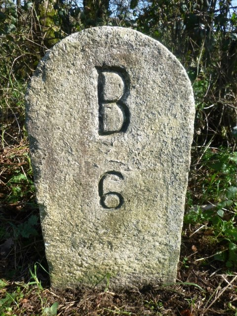 Old Milestone by the B3266, south of Bravery Cottages