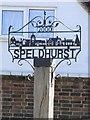 TQ5541 : Village Sign in Speldhurst, Kent by John P Reeves