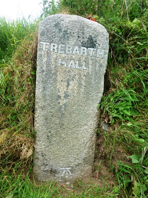 Old Guide Stone by the B3257, north of Trevadlock