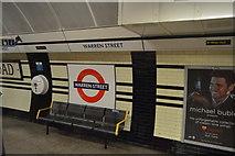 TQ2982 : Roundel, Warren Street Underground Station by N Chadwick
