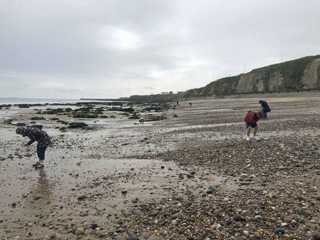 Sea glass picking Seaham