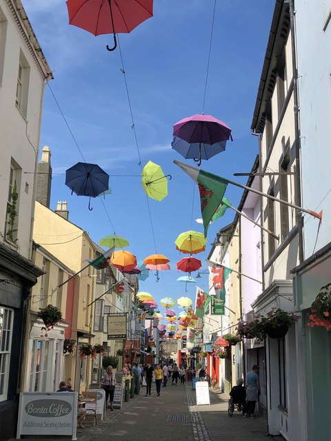 A colourful Palace Street Caernarfon