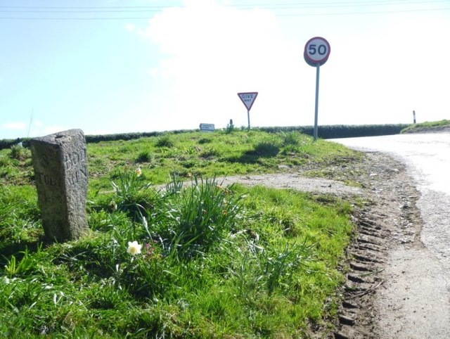 Old Guide Stone near the B3266