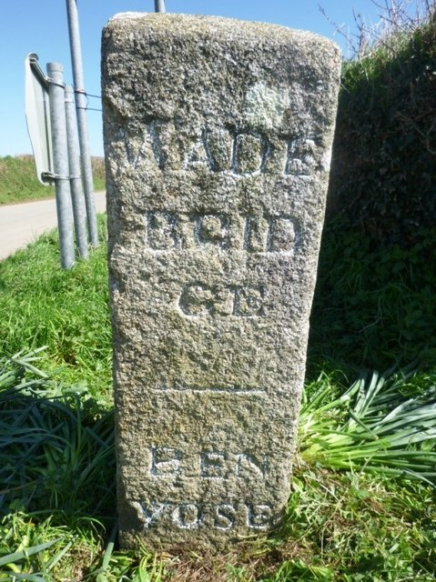 Old Guide Stone north of St Tudy