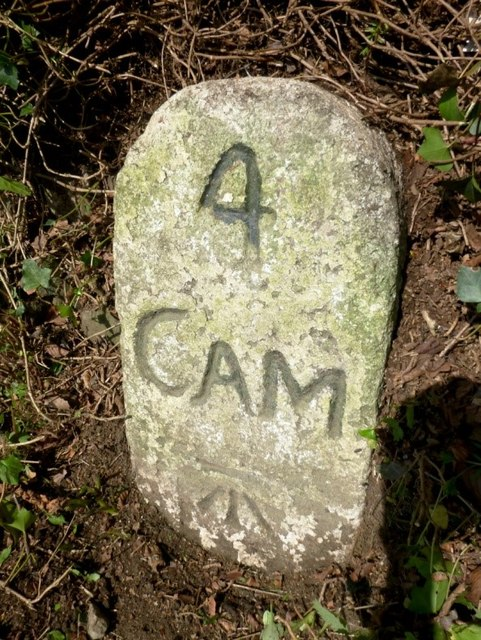 Old Milestone by the A39, south east of Trehannick Farm