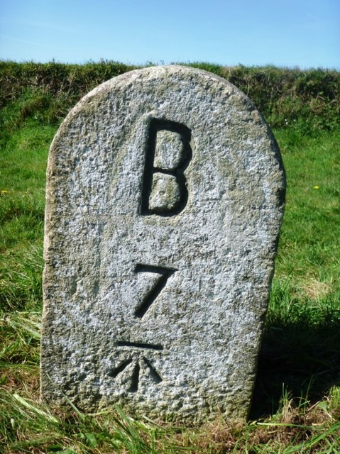 Old Milestone by the B3266, south east of St Tudy
