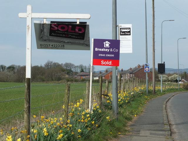 For Sale Signs on Upholland Road, Billinge