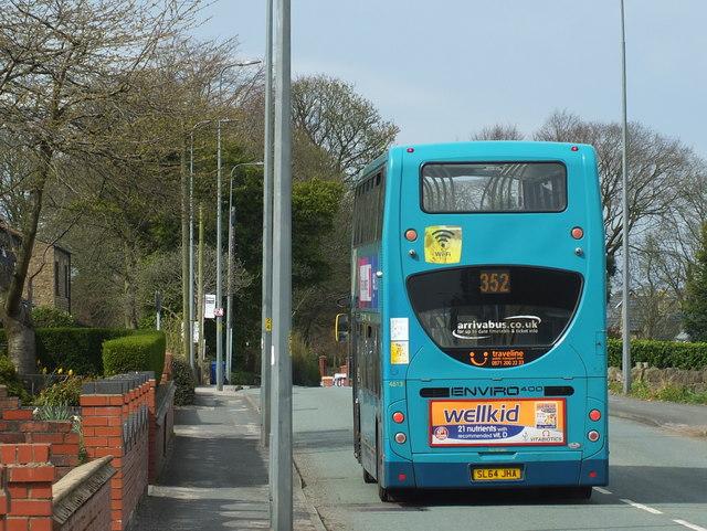 352 Bus on Upholland Road during Coronavirus Pandemic