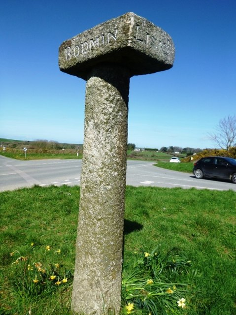 Old Guide Stone by the B3266, north east of Tregooden