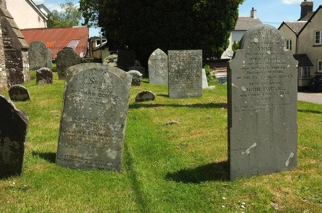 Headstones, West Buckland