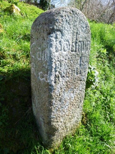 Old Guide Stone in Wenfordbridge
