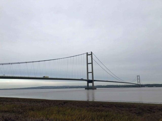 The Humber Bridge from Barton waterside