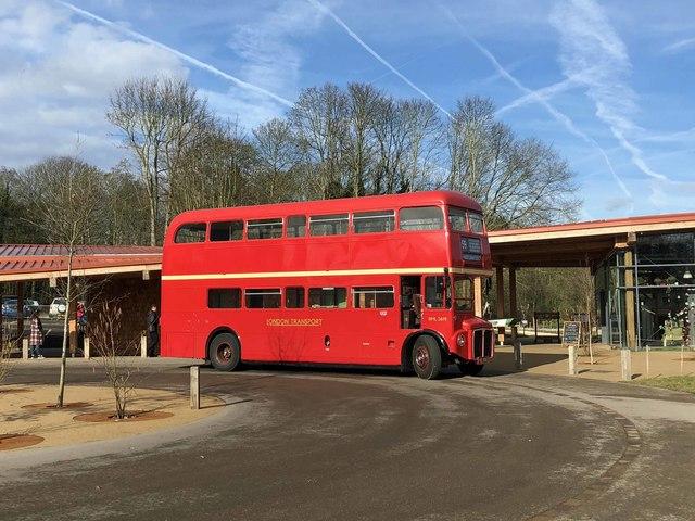 London transport bus at RSPB Edwinstowe