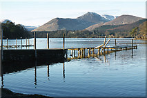 NY2622 : Old jetty north of Friar's Crag, Derwent Water by Colin Park