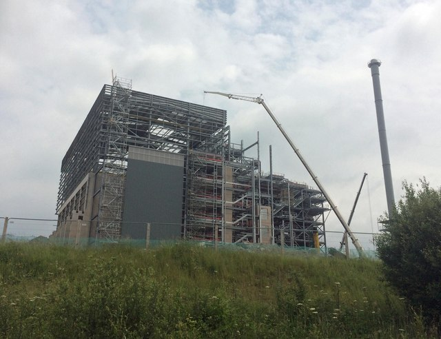 Energy from waste building under construction