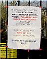 ST3090 : Coronavirus (COVID-19) notice facing Malpas Road, Newport by Jaggery