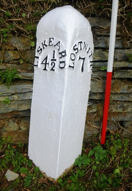 Old Milepost by the A390, opposite Gelly Copse cottage