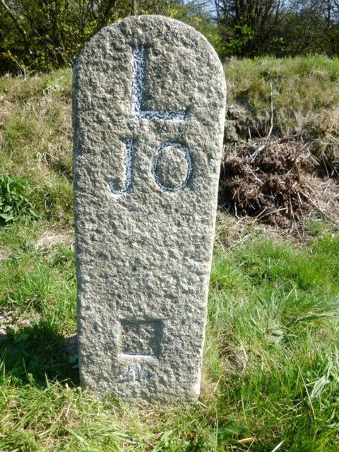 Old Milestone by the A395, Wilsey Down