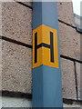SH5872 : Hydrant sticker on Waterloo Street, Bangor by Meirion
